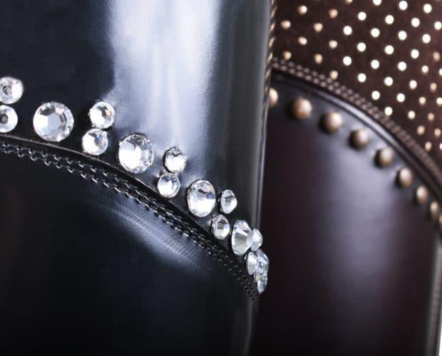 Swarovski & Gems Collection De Niro Riding Boots